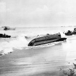 Beached Landing Craft at Empress Augusta Bay on Bougainville