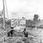Jeeps on US Seabee Built Marine Drive Hi Way on Bougainville