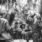 Marines Drink Coconut Milk on Bougainville