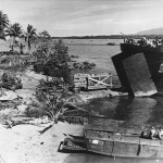 Marines and LST Landing Supplies on Bougainville 1944