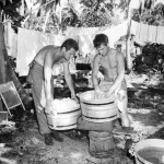 US Soldiers Doing Laundry on Bougainville