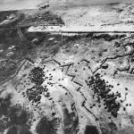 Aerial View Zig Zag Japanese Trenches on Engebi Island 1944