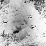 Aerial photo Japanese bombers on Eniwetok airfield