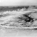 Invasion of Eniwetok, invasion fleet in the background