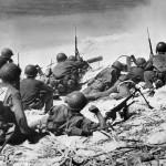 Marine Machine Gunners in Action on Eniwetok