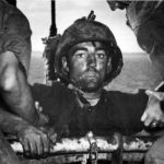 Marine boards transport after two days of Battle on Eniwetok