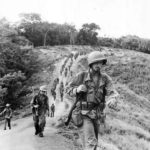 35th Infantry troops returning to base after 21 days in a fighting line to capture the Gifu on Guadalcanal 1943