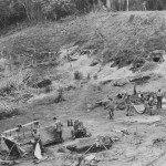 U.S. Marine Mortar Company Sets Up on Guadalcanal – Solomon Islands