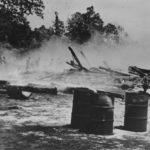 Guadalcanal Japanese bomb airplane hanger 1942