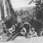 11th Marines Man Japanese 75 mm Gun on Lunga Perimeter, Guadalcanal 1942
