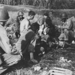 Marine Chaplain Help Wounded In Jungle Guadalcanal