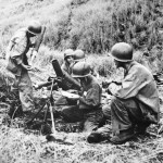 Marine Mortar Squad in Action on Guadalcanal