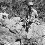 Marine at Machine Gun Position on Edson's Ridge Guadalcanal 1942