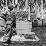 Marine eyes captured Japanese bathtub on Guadalcanal 1942