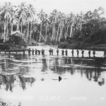Marine patrol crosses the Matanikau River in September 1942