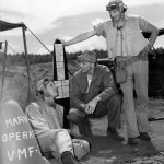 Marines of VMF 221 by Scoreboard on Guadalcanal