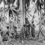 Marines set up radio communication site on Guadalcanal 1942