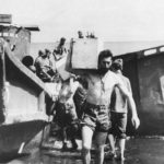 Marines unload supplies on beach of Guadalcanal 1942