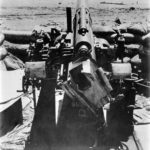 Marines use Japanese AAA gun named Susie Q 1942