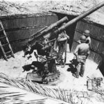 Marines with Captured Japanese 76,2 mm Naval Gun Type 3 Kukum Guadalcanal 1942