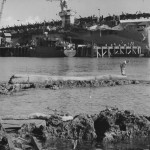 P 38 Arrive On Aircraft Carrier Guadalcanal June 1944