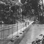 Seabees Footbridge Over River On Guadalcanal