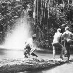 Soldiers fishing with dynamite on Guadalcanal 1943