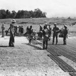 Troops Lay Marsden Mats for Landing Field on Guadalcanal 1943