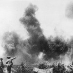 US Troops Watch Guadalcanal Solomon Islands Burn pacific