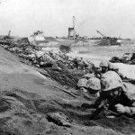 4th Division Marines Pinned Down on Iwo Jima Beachhead