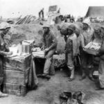4th Division Marines set up Post Office on Iwo Jima
