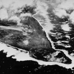 Aerial View of Southwest Tip of Iwo Jima