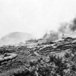 Iwo Jima LVTs beach defenses Marine