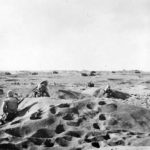 Iwo Jima Marines advancing