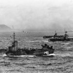 Iwo Jima – landing craft ships LSM 145 and 206