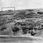 Japanese AA emplacements pre invasion reconn photo of Iwo Jima