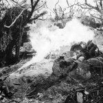 Marine Flame Thrower In Action Mt Suribachi Iwo Jima