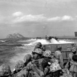 Marines Head toward Shore for Initial Landing on Iwo Jima.