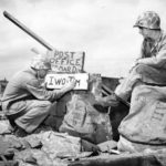 Marines open makeshift Post Office on Iwo Jima