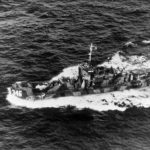 Press boat USS LCI(L)-346 headed to invasion of Iwo Jima