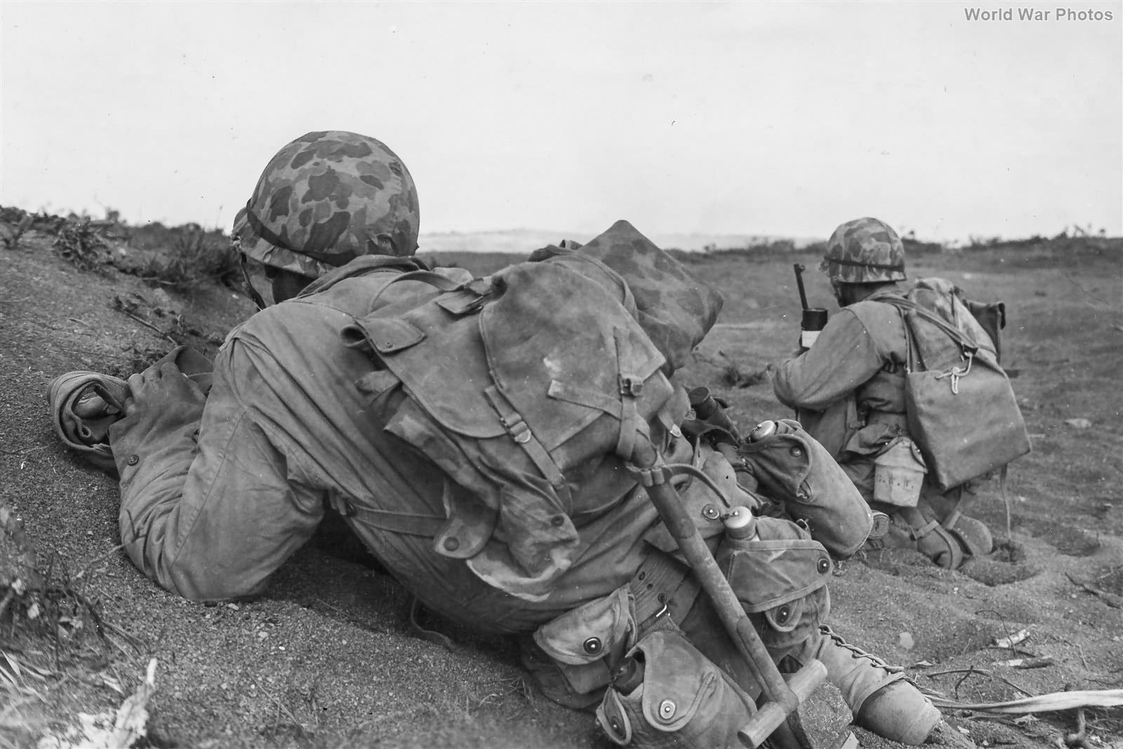 3-21 Marines fight for Airfield 2 on Iwo Jima February 24feb