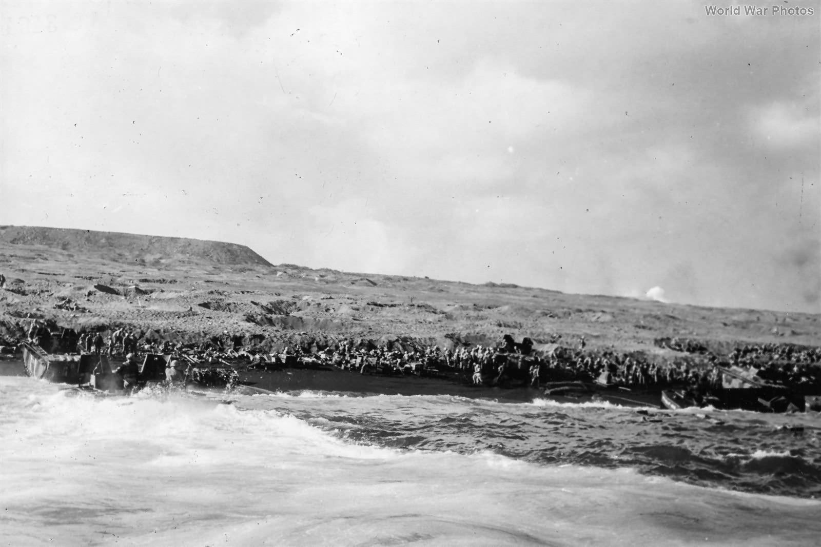First waves pinned on Iwo Jima Beach 19feb