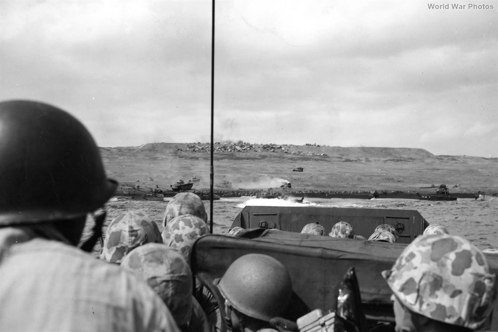 Group of 4th Division Marines in an LCVP