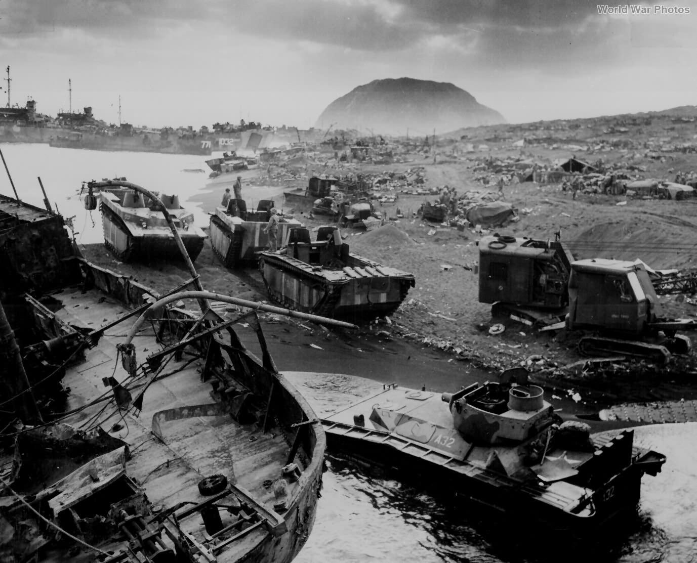 LVTs Iwo Jima 2