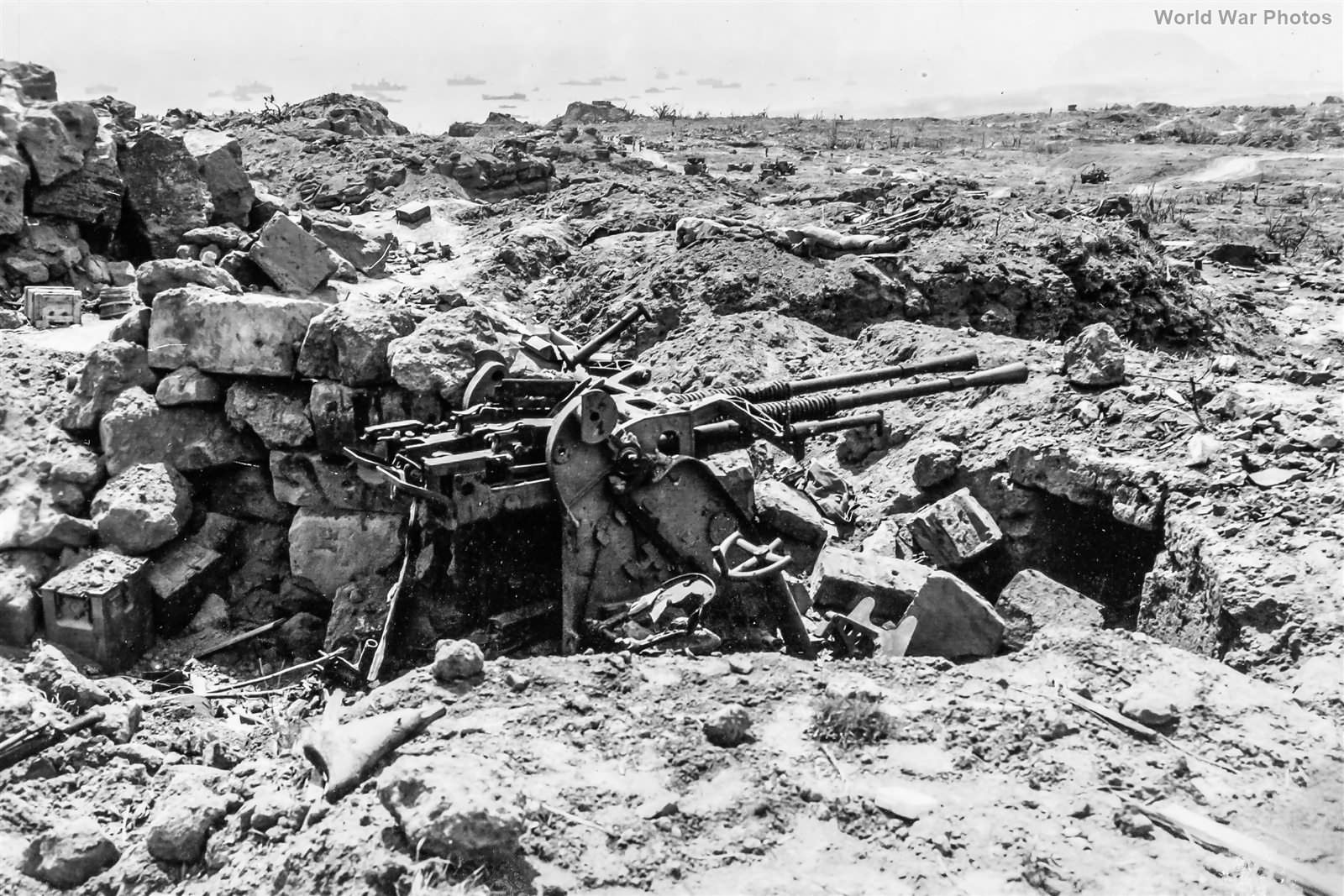 Japanese 25mm AA Gun Emplacement on Yellow Beach
