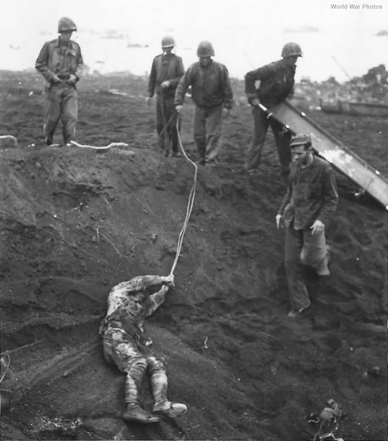 Japanese POW on Iwo Jima played dead of 1 1-2 Days