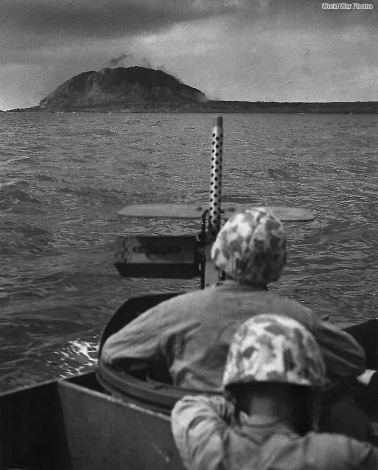 Marines in LCVP Headed for Beach of Iwo Jima