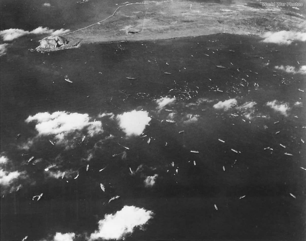 Navy TF Landing 5th Amphibious Corps during Iwo Jima Invasion