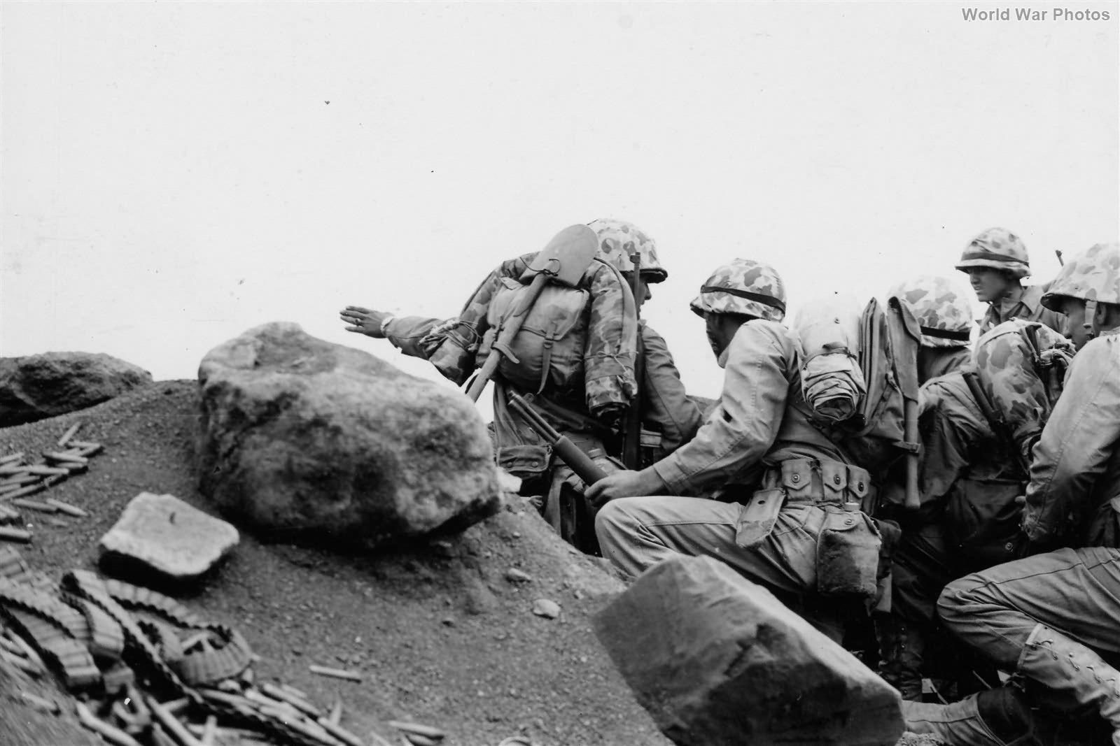Platoon Commander in 2/9 Marines in action Iwo Jima 26 February 1945