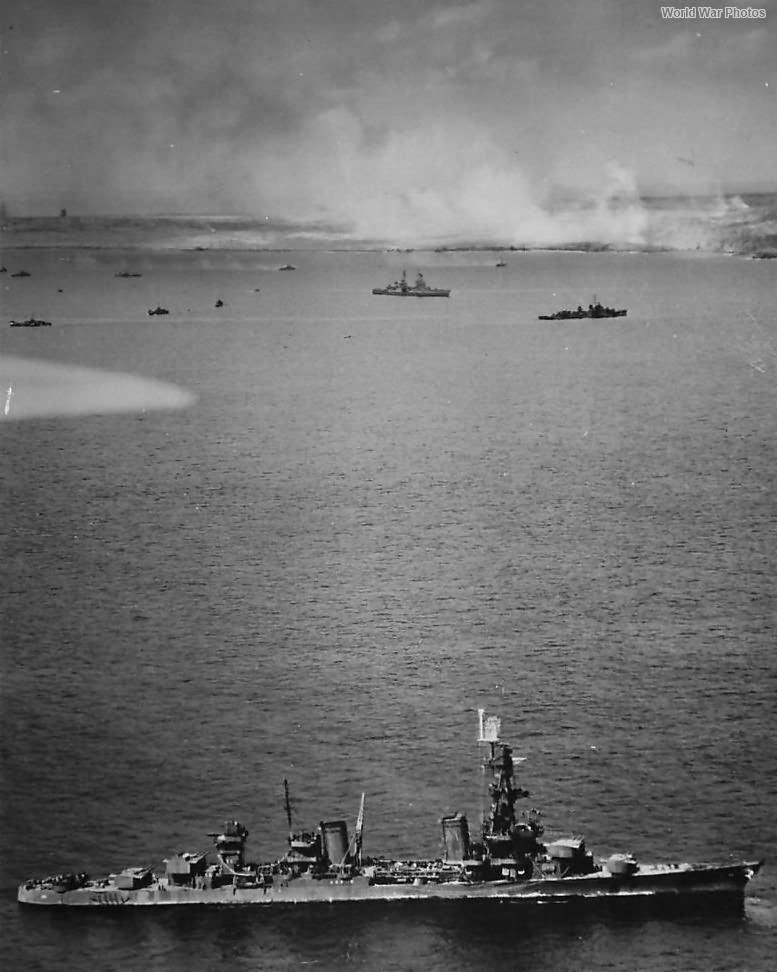 Ships off Iwo Jima during Opening Stages of Invasion